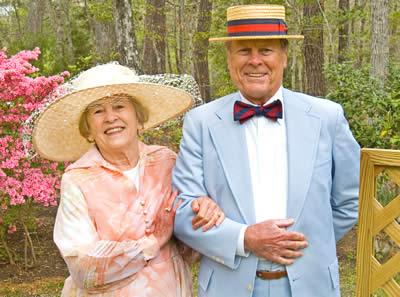a fine example of proper attire - Garden Party Attire