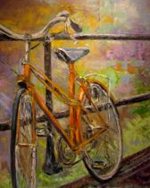 susan dahlin painting bike