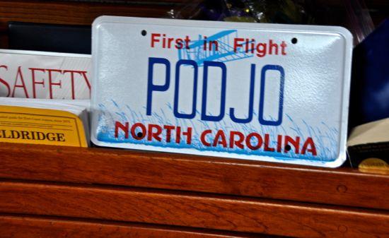 Podjo license plate