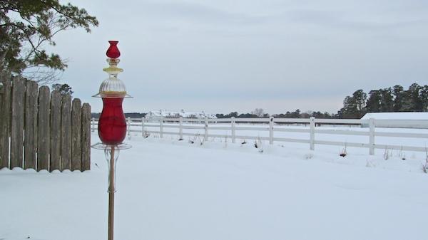 snow feb 2014 del rio red glass fulcher horse farm