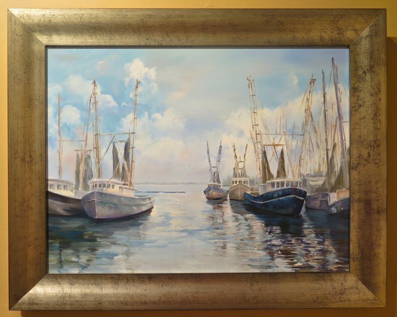 painting rush harbor