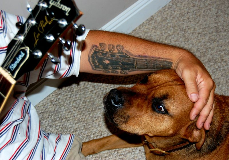 mooky chris daniels gibson guitar tattoo