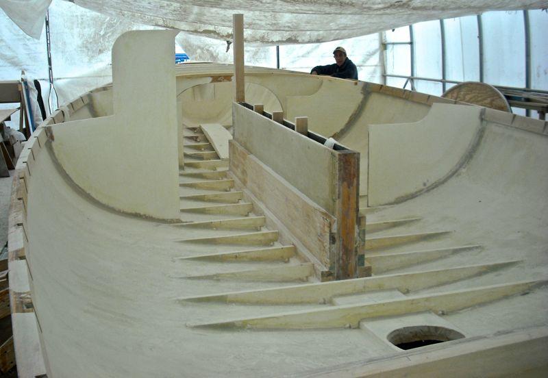 felix cat boat art halpern centerboard floor install