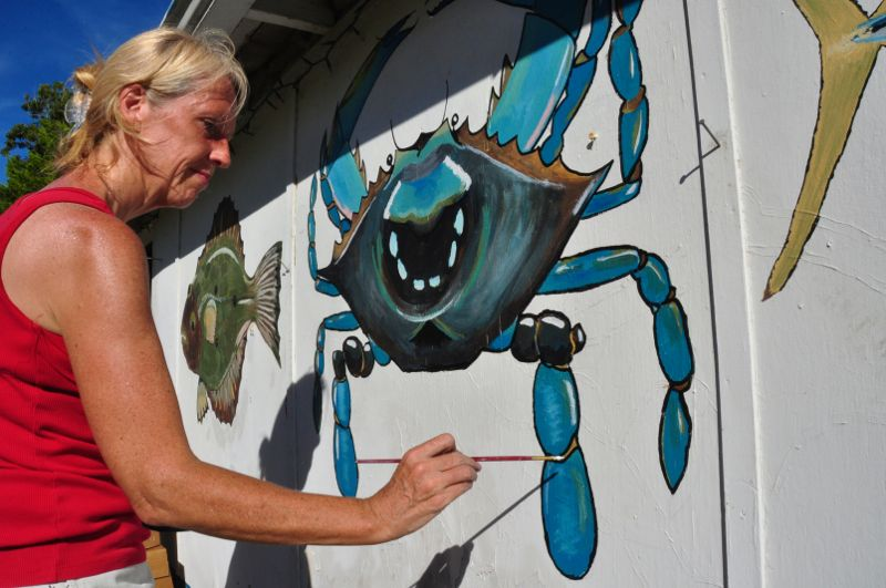 garland fulcher seafood mural
