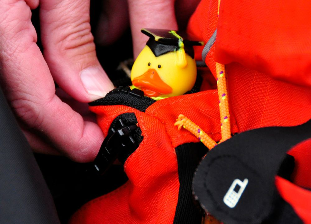 deb walters kayak yellow duck