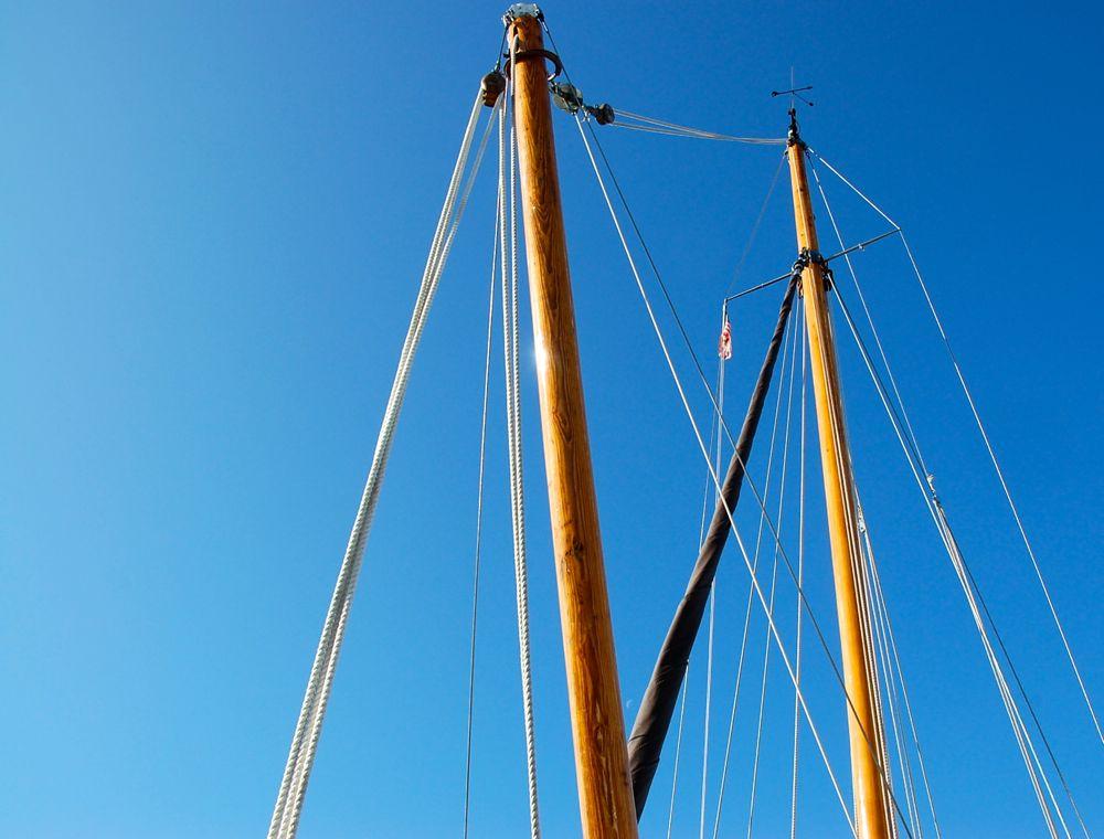 bika heard 28 sailboat nina kristin nilsen henrik nor hansen sprit against sky