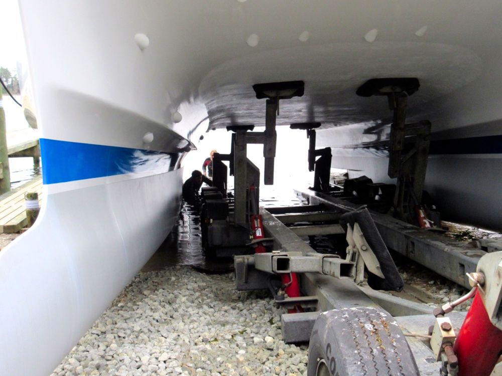 graham burns catamaran silver voyager launch trailer arms