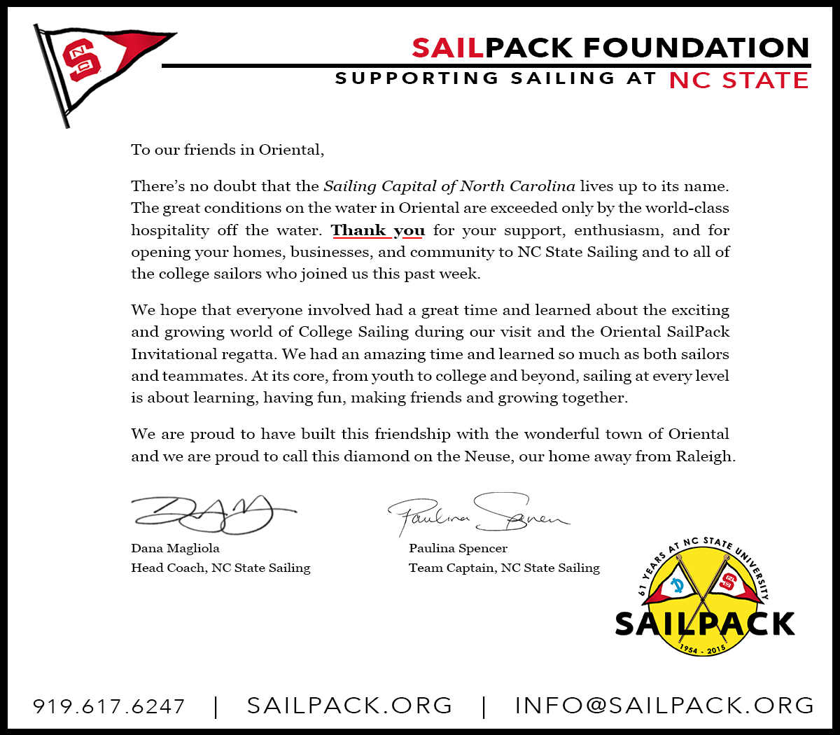 sailpack thank you