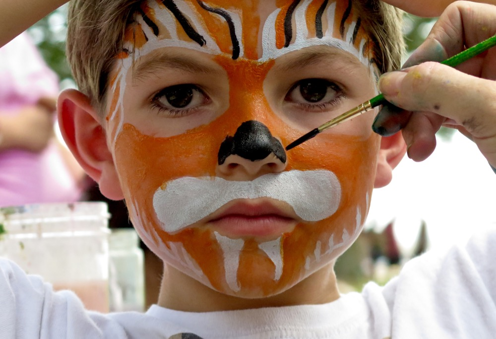 croakerfest 2015 face painting tiger