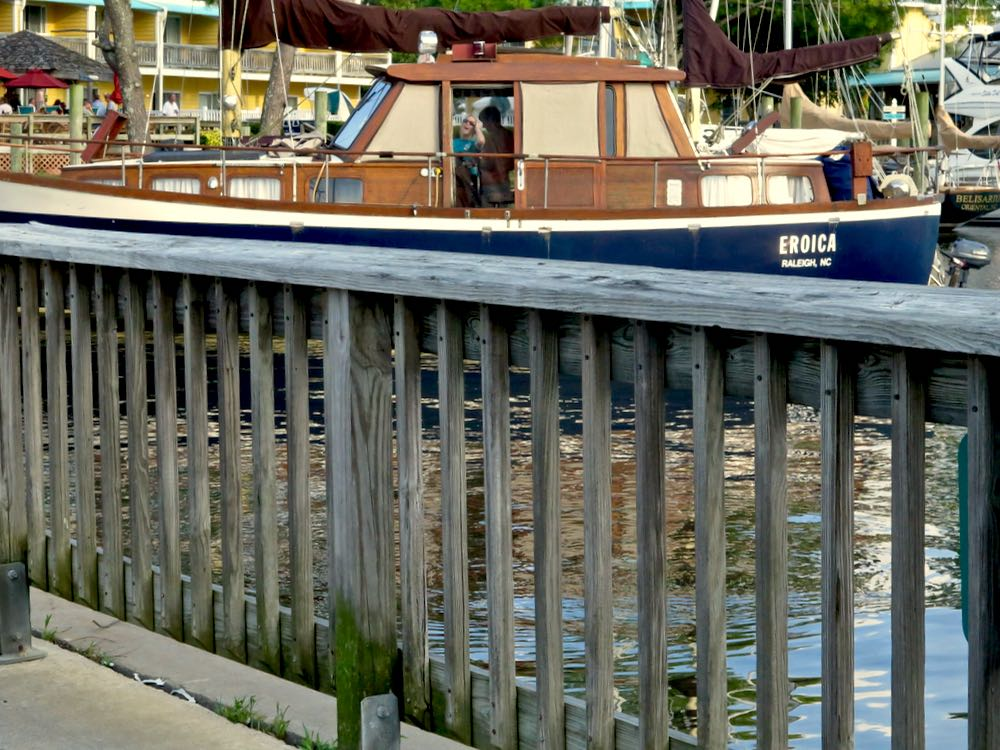 eroica boat town dock