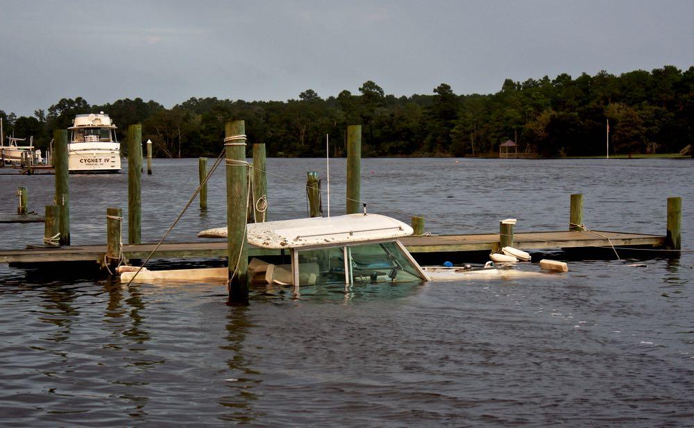 sunken boat