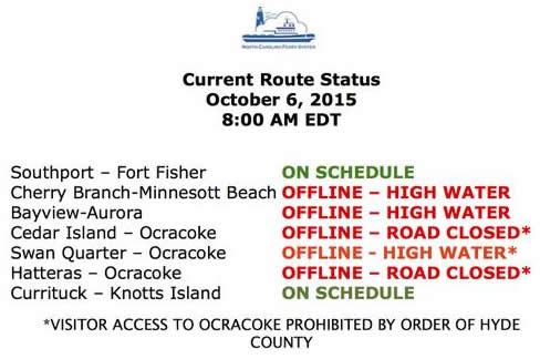 ferry status