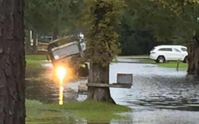 national guard truck stuck