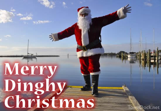 dinghy dock santa