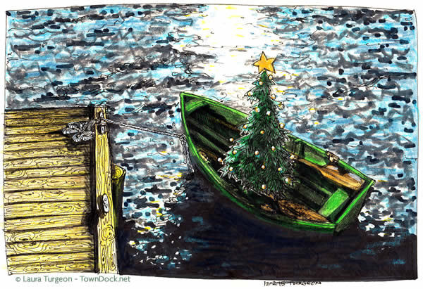 green christmas dinghy