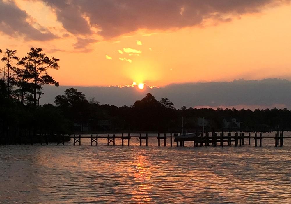broad creek sunrise