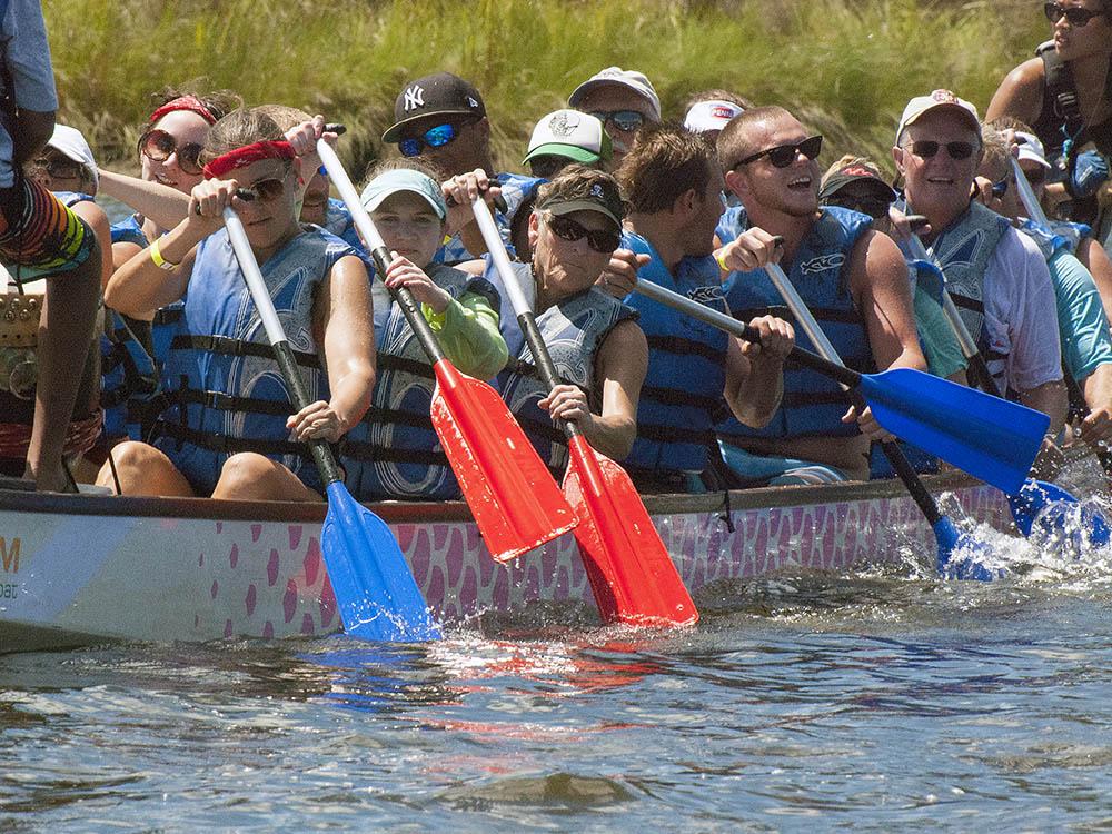 dragon boat raceperspiring