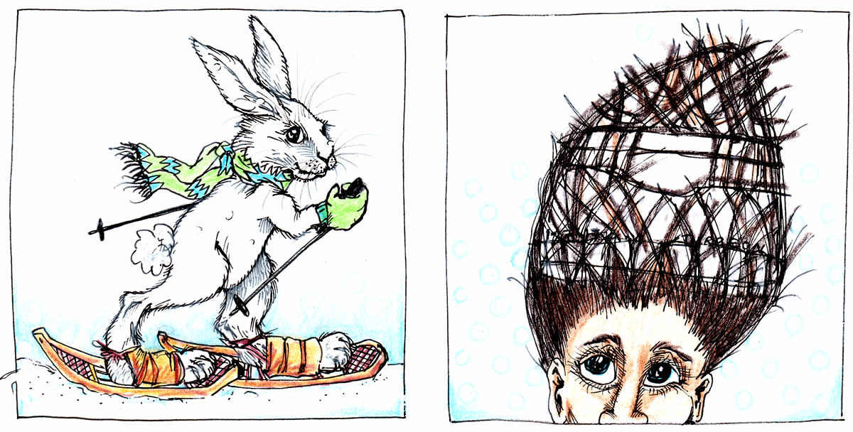 Snowshoe Rabbit. Snowshoe Hair. | Drawing The Town, Artist ...