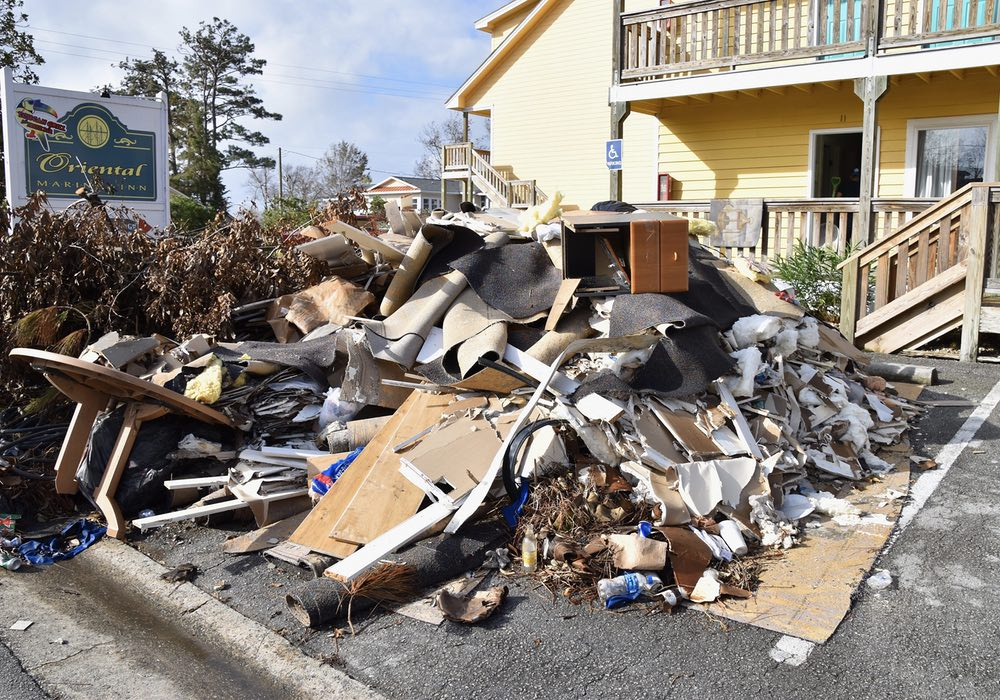 Construction Debris Post Florence