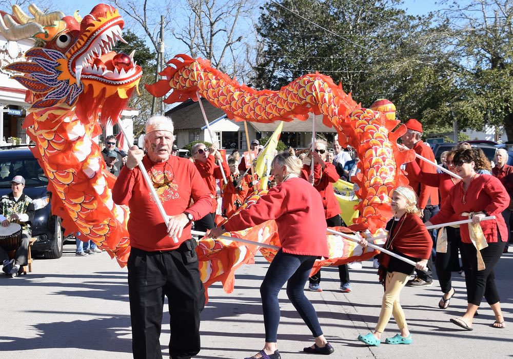 Dragons Bring in the Chinese New Year